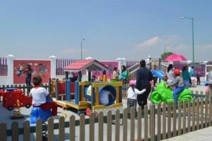 Espacios para que los niños jueguen y se diviertan