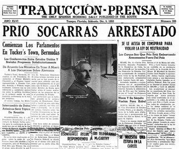 Carlos Prío Socarr+ís, terminó  pagando con áírcel su  cadena de excesos y latrocinios