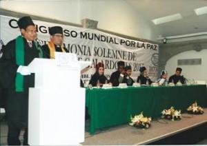 Diego Valdes agredeció el reconocimiento a su trayectoria  académica y sindical