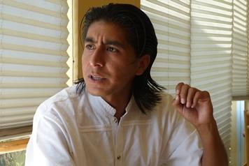 Ricardo Luqueño, secretario del Frente Comun del Valle de Tulancingo