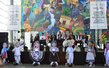 La delegación de la CDI de Hidalgo, organizó el colorido  encuentro
