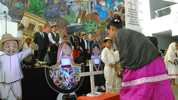 Niños y niñas indígenas participaron a través de su  cultura, su lengua y su música