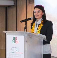 La titular de la CDI promueve asistencia  multisectorial a   favor de las comunidades