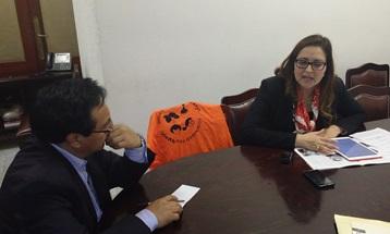 Cynthia López en la entrevista con  Expediente Ultra