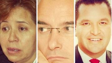 Alcaldes Maricela Serrano (Ixtapaluca) Pablo Basáñez (Tlalne) y David Sánchez Guevara (Naucalpan) este fue detenido, con sueldazos que envidian en Europa