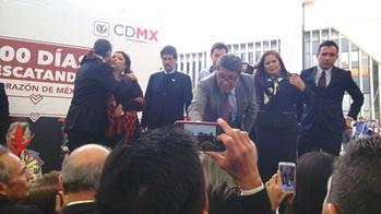 Clara Brugada hizo acto de presencia