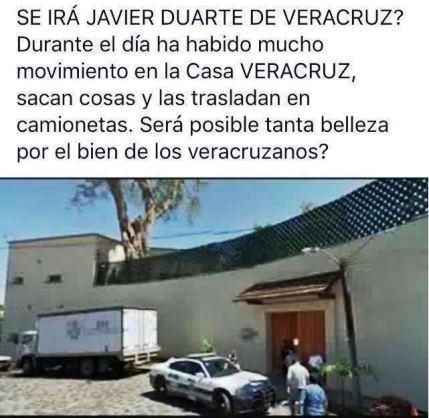 Foto que circula en las redes sociales ¿ Se va Duarte?