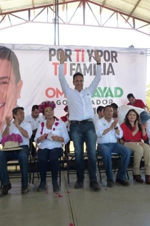El hombre del día en la campaña por la gubernatura de Hidalgo, se echó a la bolsa a Yahualica, en el arranque.