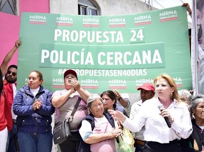 Para abatir la inseguridad propone una policía cercana a la gente