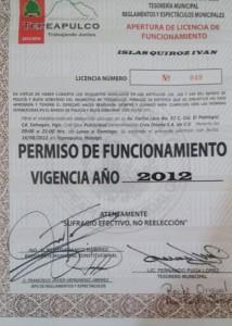 El documento de su único pago al municipio