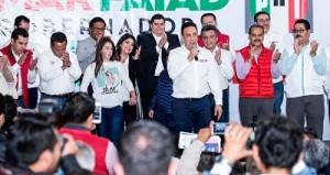 Agradeció el apoyo brindado por su valioso equipo de campaña