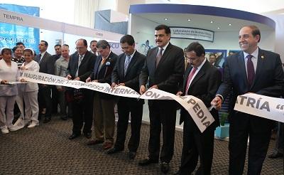Francisco Olvera durante la inauguración del Congreso Internacional de Pediatría
