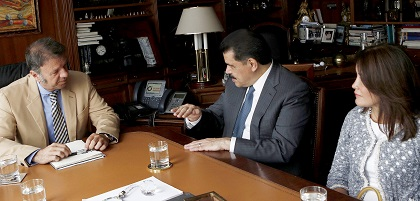 Gobernador Olvera en Madrid
