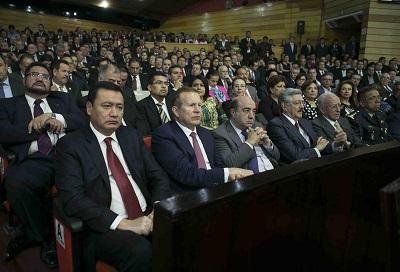 Ex mandatarios hidalguenses presentes en el evento