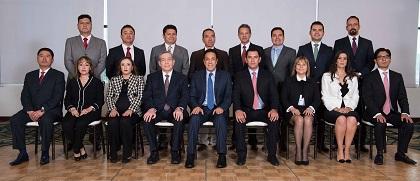 Los integrantes del gabinete de Omar Fayad